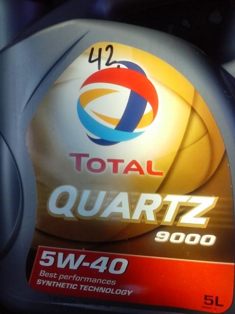 TOTAL QUARTZ 9000 5W-40. Синтетическое моторное масло.