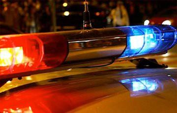 На тротуаре в Гомеле милицейская машина сбила пешехода