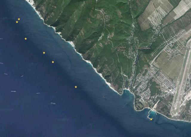 затонувших кораблей под Геленджиком