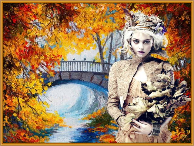Женщина осень