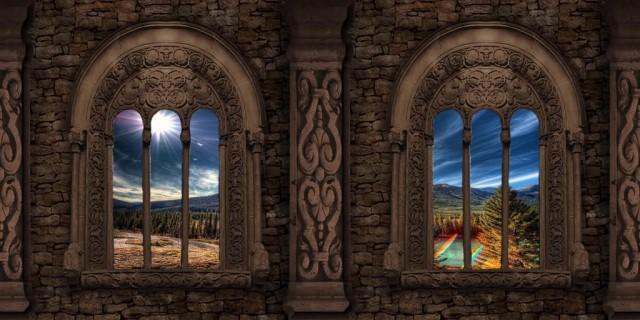 Окна как в замке