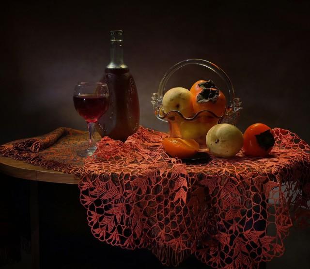 , вино и фрукты_Иноэль