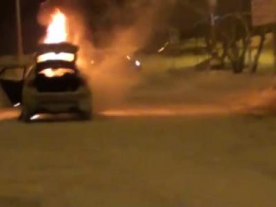 Сгорел BMW X6M