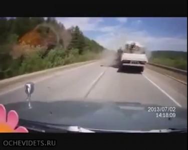 Страшное ДТП на трассе Колыма 2 июля 2013.