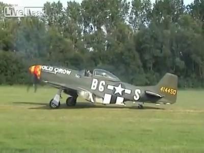 P-51 Mustang старт, взлёт, полёт - 2