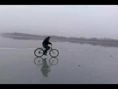 На велосипеде по льду
