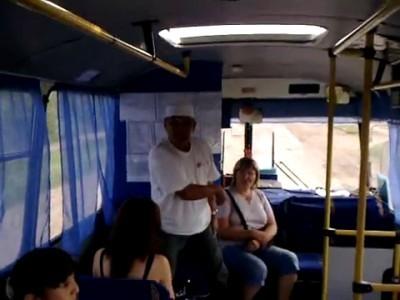 Дебошир-неплательщик в автобусе