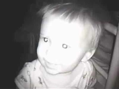 Дети при съемке камерой ночного видения