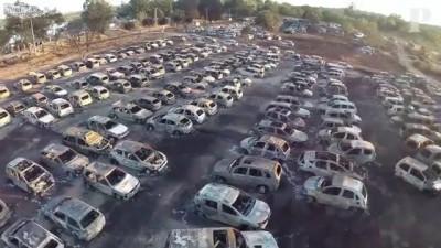 Четыре сотни автомобилей сгорели на парковке музыкального фестиваля