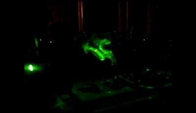 Лазерый прэктор и ароматическая свеча