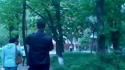 Стрельба у воинской части Нахимова. Мариуполь. 09.05.2014