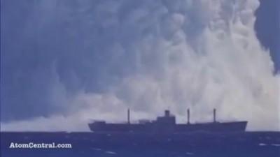 Ядерный взрыв. Подводная царь-бомба. Ядерный гриб. Nuclear explosion. Mushroom cloud