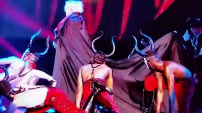 Madonna Fall Brit Awards 2015 Living for Love Tumble Falling