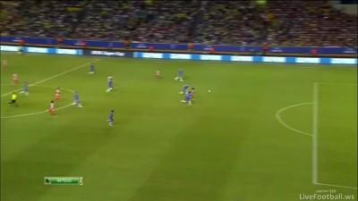 Гол Фалькао Челси 0:1 Атлетико 31.08.12 HD