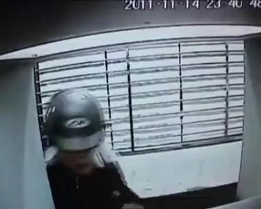 Ограбление у банкомата в Китае
