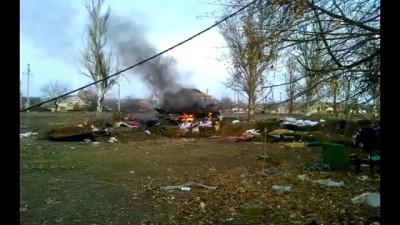 Село Пески. Прямое попадание в БМП-2 ВСУ