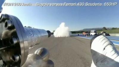 Реактивный велосипедист. Record 207 mph 333 km-h