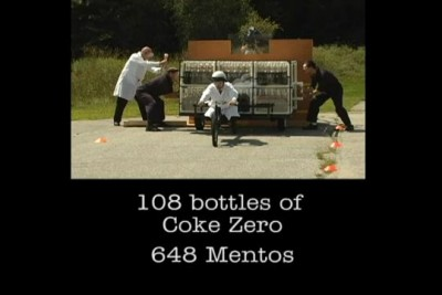 The Coke Zero & Mentos Rocket Car Showdown