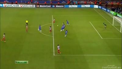 Гол Фалькао(3) Челси 0:3 Атлетико Суперкубок 31.08.12 HD