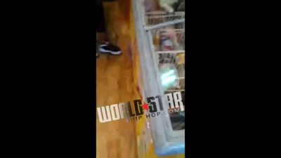 Crazy: Female Gets Rocked Into A Window After Spitting In Man's Face!