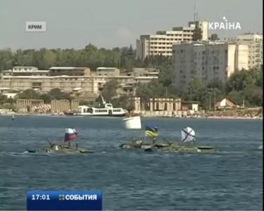 Боевая машина пехоты затонула во время репетиции морского парада в Севастополе