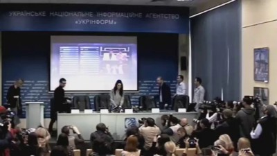 Джамала начала свою пресс-конференцию по итогам Евровидение 2016 под клип Лазарева 17 05 2016