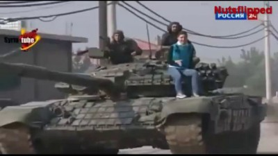 T-90 Tank Used In Syria Footage