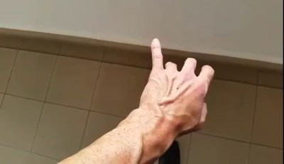 Man Plays with Dancing Vein