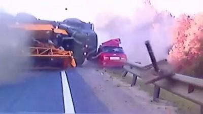 a freak accident, truck crash