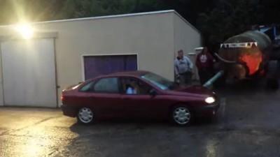 машин залить водой