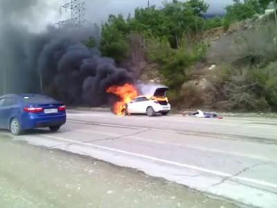 Пожар на трассе ДОН