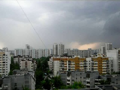 Гроза в Марьино (Москва) 24 мая 2013г.