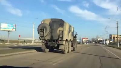 Российская военная техника едет в Крым! 13.03.2014