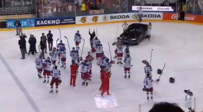 Canadian Anthem after 2015 IIHF World Championship Gold Medal Game (17 May 2015)