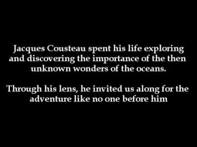 The Inspirational Jacques Cousteau