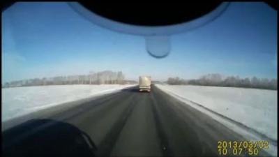 Лобовое столкновение на трассе Омск-Новосибирск