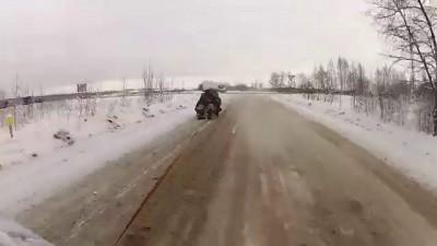 155 км/ч на санках
