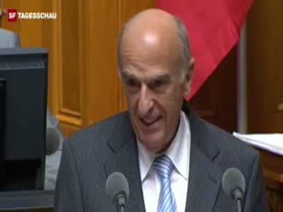 Выступление министра - смех на трибуне
