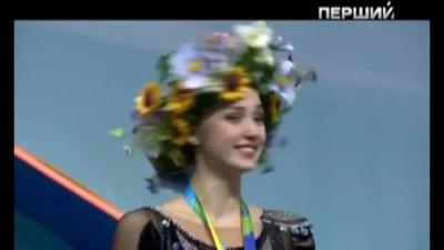 Украинскую гимнастку в Киеве с победой ''поздравили'' российским гимном