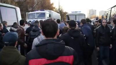 Драка между ОМОНОМ и людьми в Бирюлево