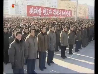 Митинги в КНДР в поддержку Ким Чен Ына-2