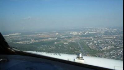 Посадка самолёта глазами пилота