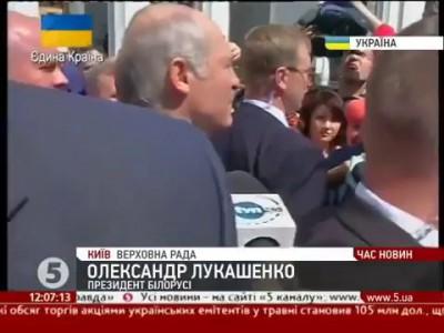 Лукашенко на инаугурации Порошенко отвечает на вопросы журналистов.
