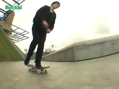 Повезло скейтеру