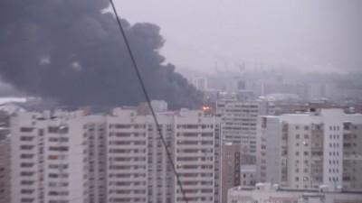 Пожар в Москве 4 Марта 2012