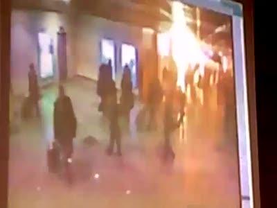 Домодедово - видео взрыва