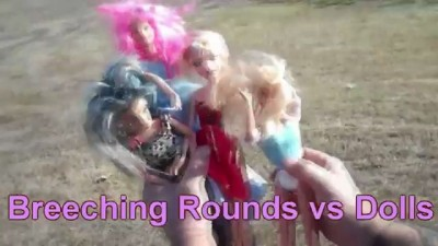 Shotgun Breaching Rounds vs DOLLS (crazy powerful)