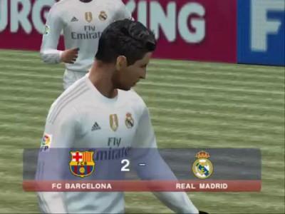 Сумасшедший удар Криштиану Роналду в игре PES 2016 (PS2)