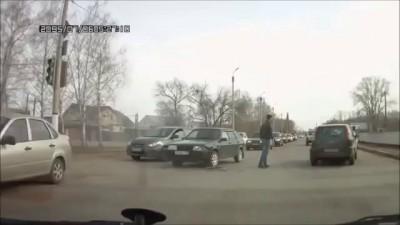 Догнал и задержал пьяного водителя