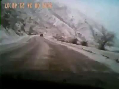 Джип упал с обрыва в Дагестане